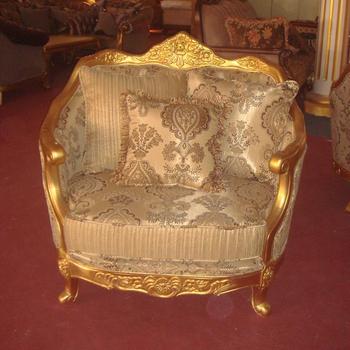 S2028-b Classic Italian Furniture Gold Leaf Sofa Set Living Room ...