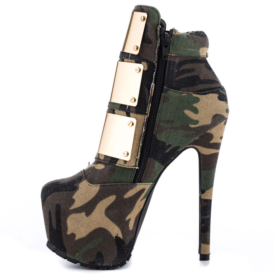 14e323179e1b5 Buy Wholesale sexy Camouflage Color High Heel Autumn Pumps Coppy Leather  Party Shoes Mid-Calf Boots Zipper Platform Ladies Shoes in Cheap Price on  Alibaba. ...
