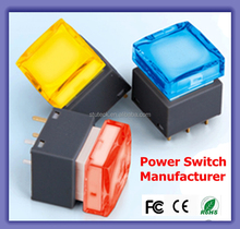 Longer Use Life Touch Simply RGB Colors Electrical Power Push Button t125 55 t85 Rocker Switch