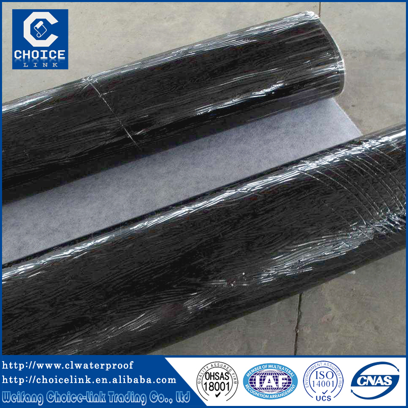 Polymer modified bitumen waterproof membrane with self adhesive SBS APP  roll sheet. Polymer Modified Bitumen Waterproof Membrane With Self Adhesive