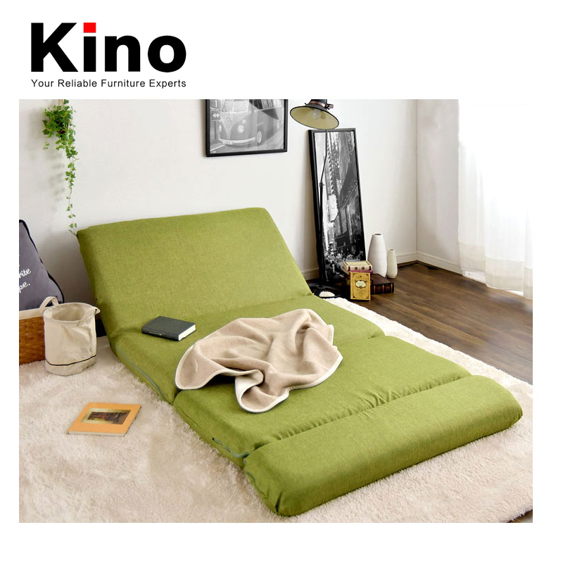 Floor Folding Double Seat Sofa Bed Modern Fabric Japanese Living Room Furniture Armless Lounge Recliner Chair
