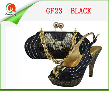 9ec830fbe3ba GF23 new hot sale wine color lady Italian shoe and bag set matching for  wedding