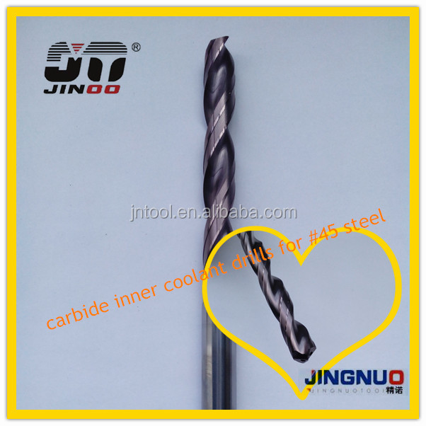 JINOO CNC Cutting Tools solid carbide straight shank drill bit nozzle
