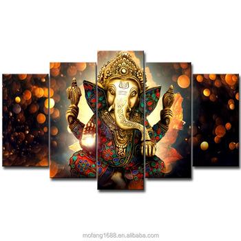 3d Hd Wall Art Of The Indian Hindu God Elephant Ganesha Unframed ...