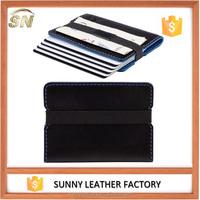 new design super slim minimalist leather card holder card wallet
