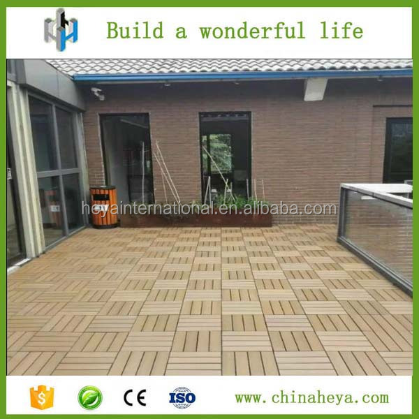 Veranda Flooring Anti-UVExterior Decking Floor Patio Board Decorate the Garden Wood Plastic Composite