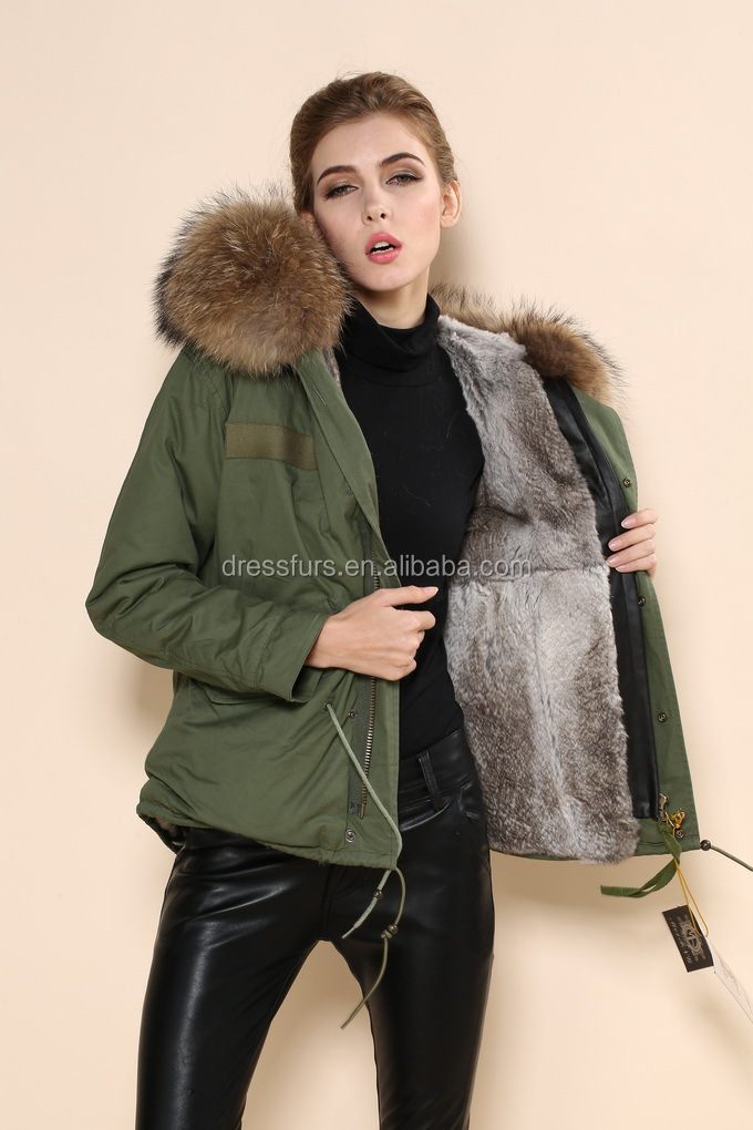 2015 New Design Women Down Coat Short Style With Real Fur Trim At ...