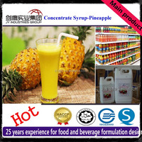 50 Times Concentrate Pineapple Syrup Juice Raw Material Beverage Ingredients