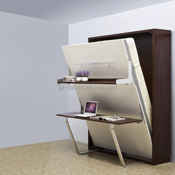 Queen Size Murphy Wall Bed Removeable Murphy Bed With Study Table Design