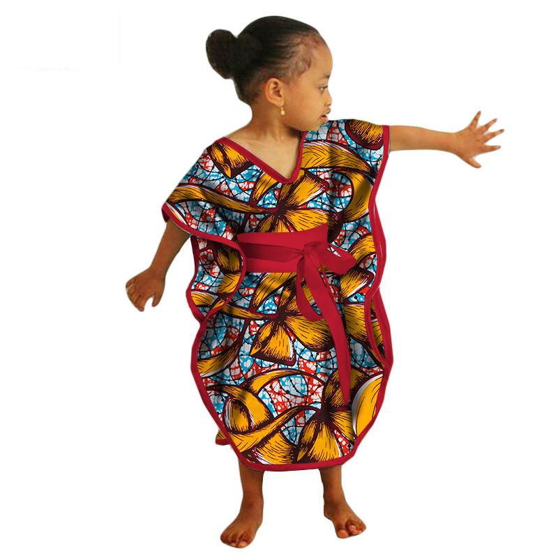 African Kids Dresses African Dashiki Print Cotton Wax Matching Dresses  Africa Children Summer Plus Size Clothing WYT69 4933eb06b8