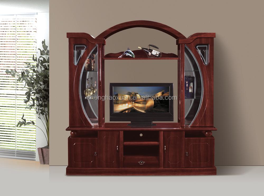 living room furniture led tv wall unit 855