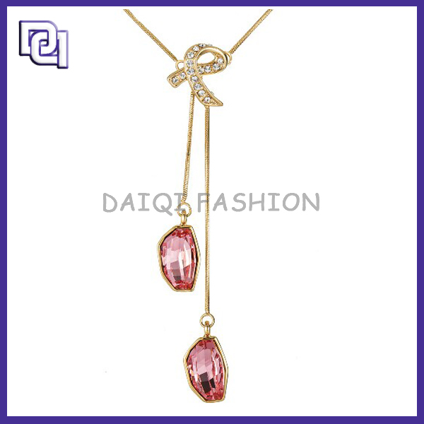 Top Sale Fashion Gold plated Necklace,Red cystal Pendant Love Couple Necklace For women,popular simple charm elegant necklace