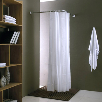 L Shaped Corner Shower Curtain Rod