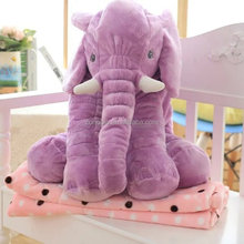 2016 Popular product cute cheap soft stuffed plush elephant shape pillow baby elephant pillow