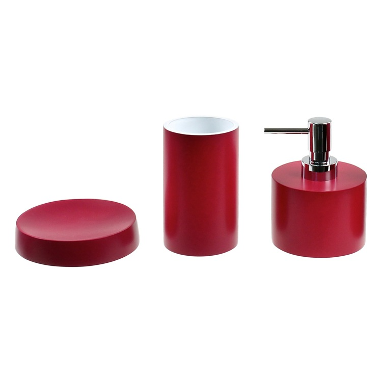 Grossiste accessoire salle de bain rouge-Acheter les ...