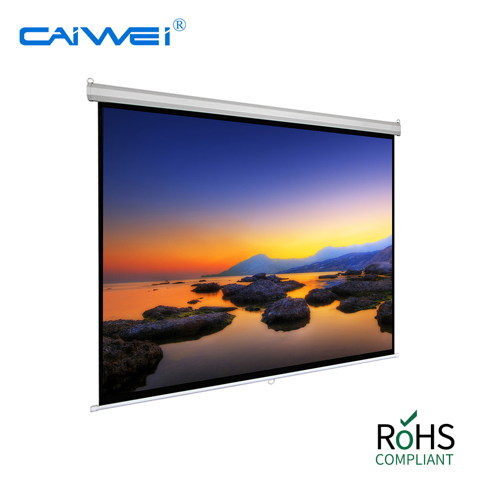 80 inches manual projector screen for movie WiFi projector