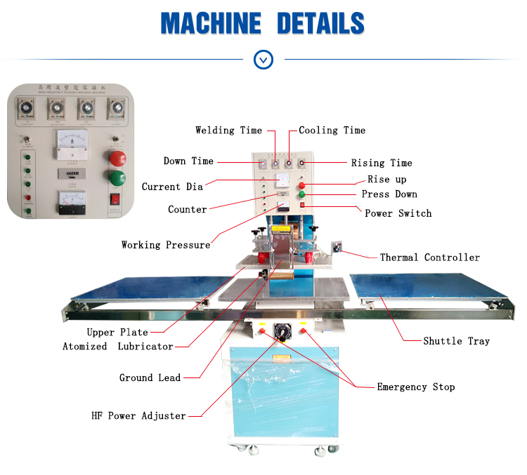 Tray Operated Manual Welding Cutting High Frequency blister pack machine for Leather table iPad/computer  cover