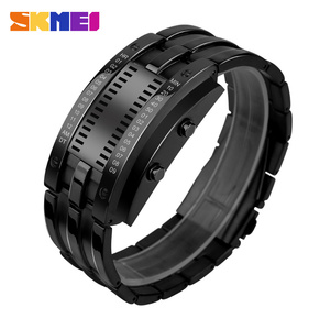 Unbranded programmable SKmei W03 lover waterproof watches digital smart bluetooth bracelet with led display