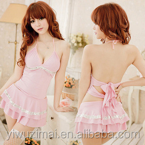 New Sexy Pink Women 's Babydoll Sleep Dress Gift Nightwear Lingerie