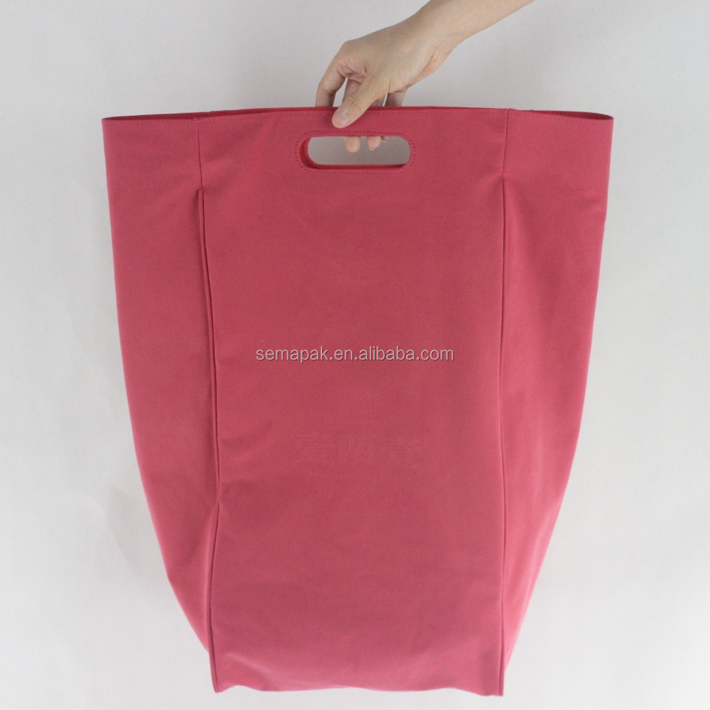 Pink custom suede dance travel shoe storage bag wholesale