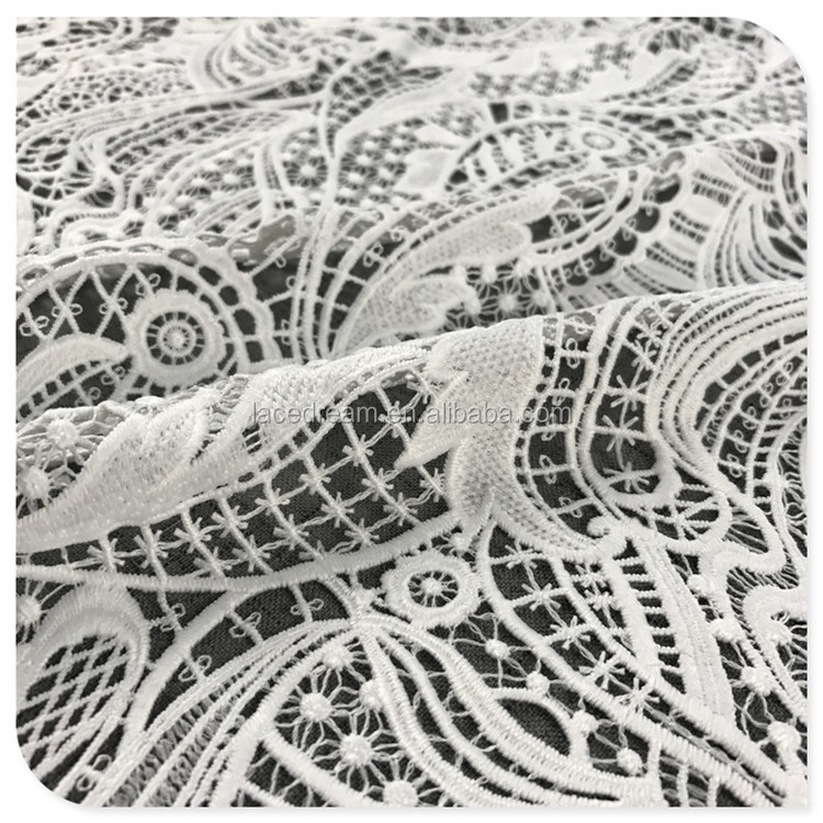 2017 angel's wings pattern african lace fabric embroidery water soluble polyester biodegradalaces on Lace for Design Women Dress