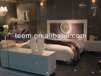 modern hot sales bedroom furniture bed silver pu leather bed
