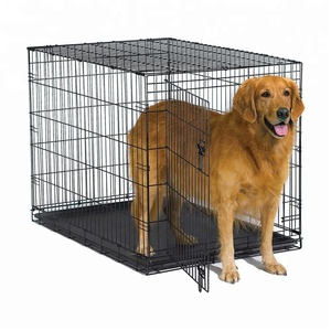 Factory Wholesale Heavy Duty Metal Folding Dog Crate
