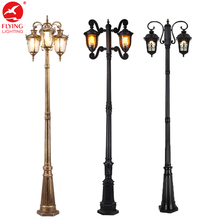Flyinglighting cast iron 220v garden lamp post