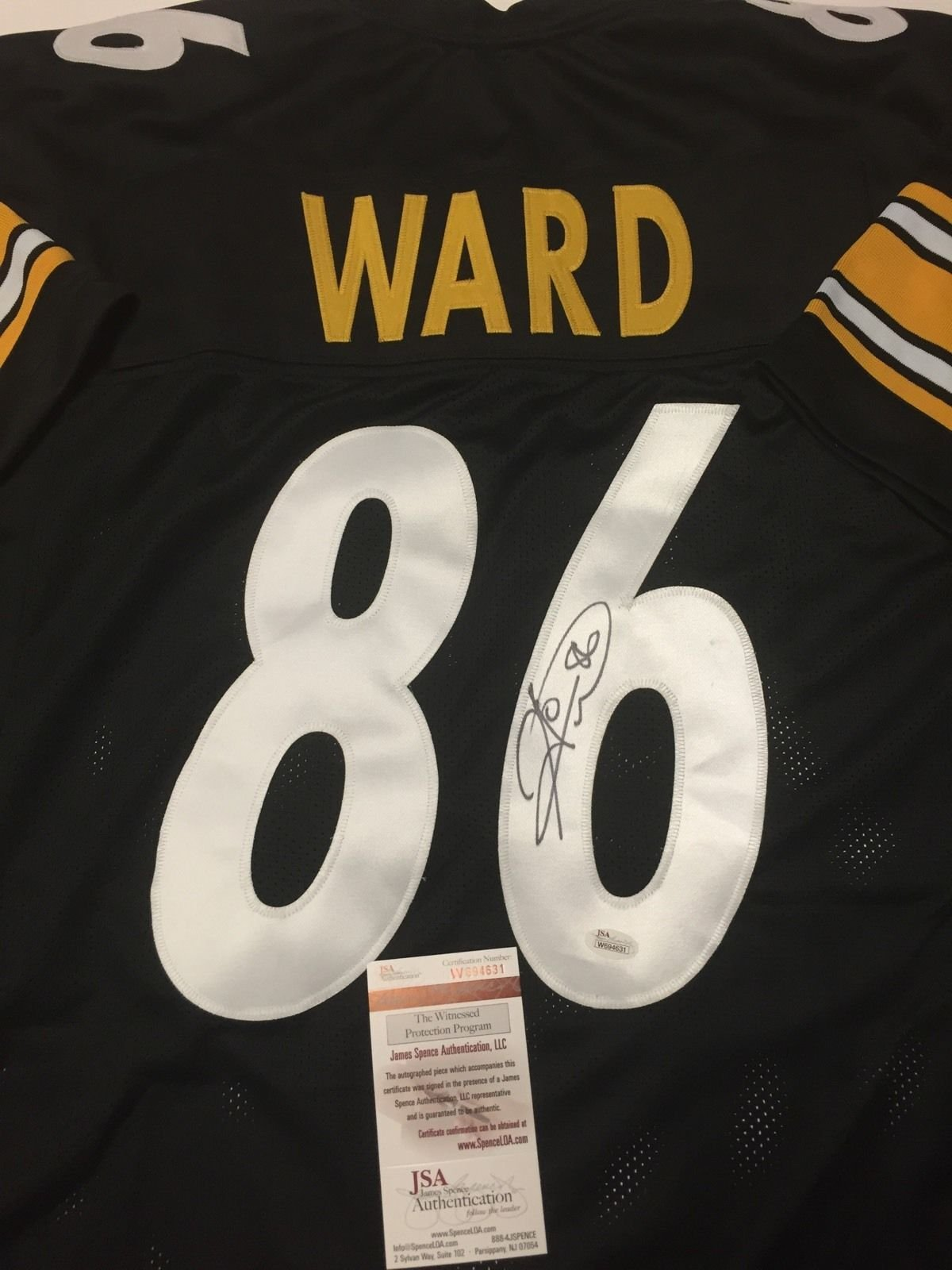 Get Quotations · Autographed Signed Hines Ward Pittsburgh Black Football  Jersey JSA COA fb0135c73