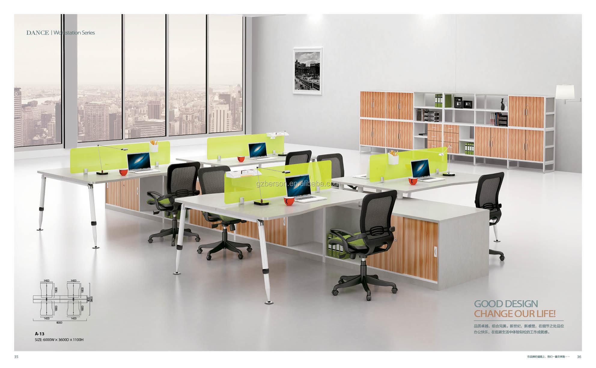 2016 New Design 8 Seats Workstation Office Furniture