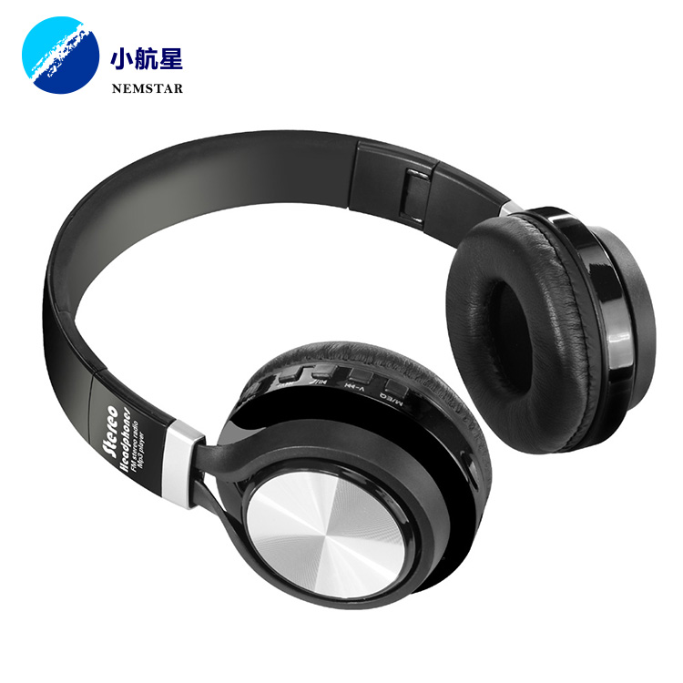 Hi-Fi Deep Bass Wireless Headphones Over Ear 30H Playtime for Travel Work TV Computer Phone (black)