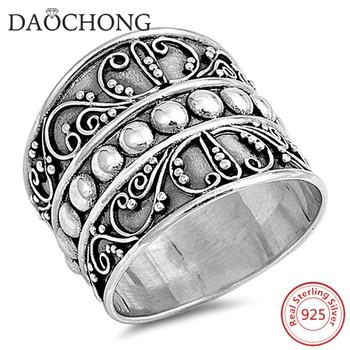 f996d69dfec Antieke Stijl Bali Bead 925 Sterling Zilveren Brede Band Ring - Buy ...
