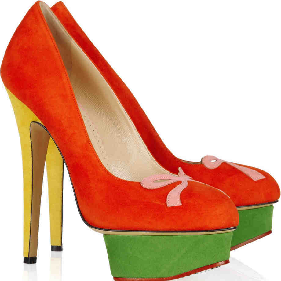 4afde5ecde Get Quotations · Orange Dress Pumps Slip On Thin High Heels Shoes For Women  Closed Rounded Toe Pump On