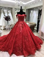 2018 custom made <span class=keywords><strong>red</strong></span> musulmano abito da sposa