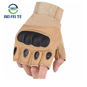 2018 Tactical Shooting Gloves Half Finger Gloves with Hard Knuckle for Airsoft Military Army Police Combat