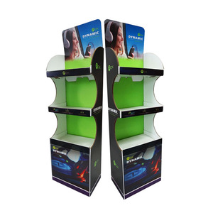 2019 Supermarket Foldable POP Carton Stand Custom Retail Portable POS Cardboard Floor Display
