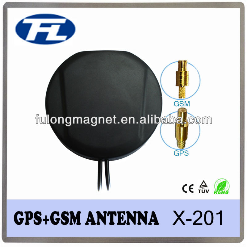 Low Profile Multi Band Combined GPS/GSM Antenna 3m RG174 Connector Customized Free Sample