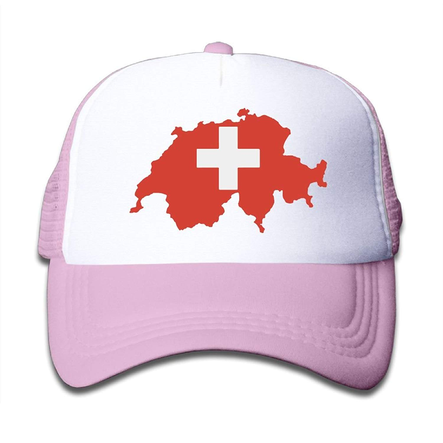 Get Quotations · BOYGIRL-CAP Map of Switzerland Kids Toddler Boys Girls  Adjustable Mesh Cap Snapback Mesh Baseball 6690ef9f884