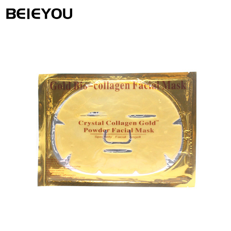 Beieyou Whitening Hydrating Face Mask 24 K Gold Collagen Crystal Facial Mask แผ่น Hydro Jelly Gel Face Mask
