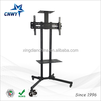 Modern Tv Wall Mount Bracket With Casters Movable Tv Stand Buy