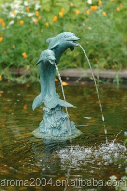 Pond Spitter Garden Decoration Dolphin Statues Water Fountain