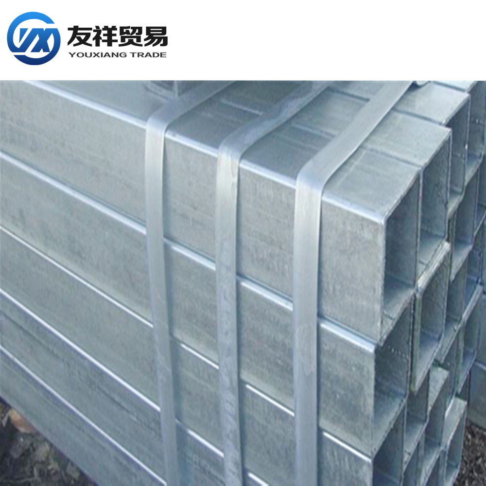 electrical wire conduit hot galvanized steel pipe /ERW steel square tubing standard sizes