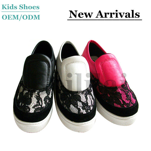 good sale high quality kids sexy lace casual shoes soft leather footwears