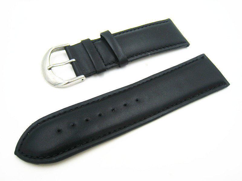 Handmade Custom Strap, Soft Genuine Leather Watch Band , 24MM Retro Men Strap Black watchband Free Shipping