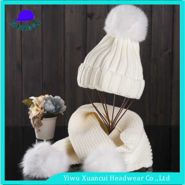 5ff31a7b271 Manufacture direct selling free sample women winter hats custom cheap funny  beanie hat and scarf set