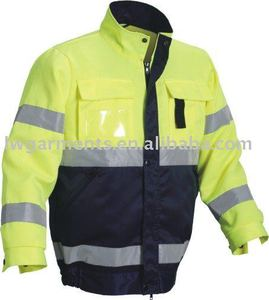 OXFORD WATER PROOF HIGH VISIBLE REFLECTIVE JACKET WITH POCKET