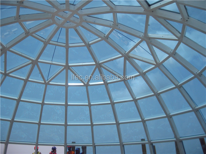 Environmental Steel Structure Glass Dome For Church Auditorium