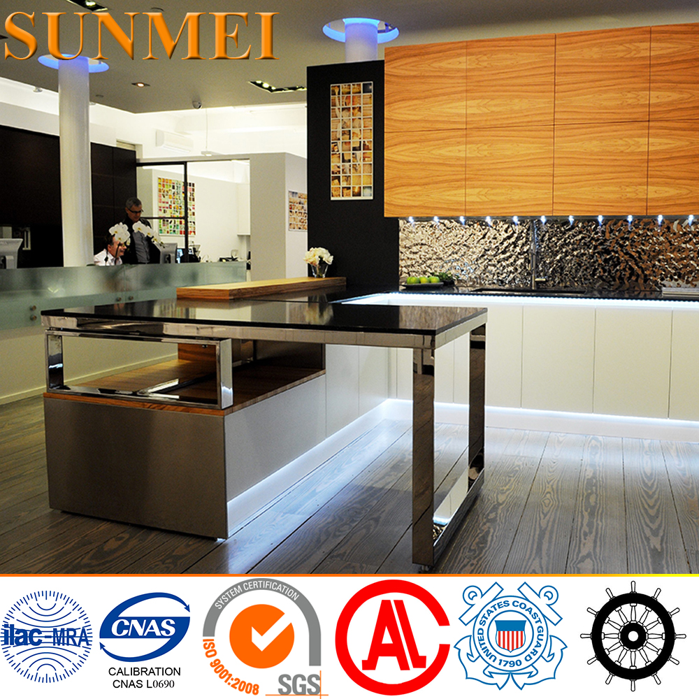 Eco-Friendly designer frameless kitchen cabinets with CE&ISO
