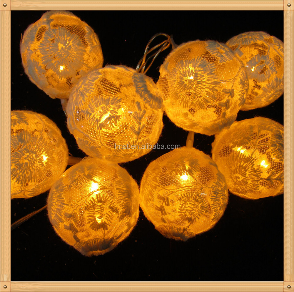 Holiday designed led leaf ball home decoration battery or transformer controlled led christmas light led light chain