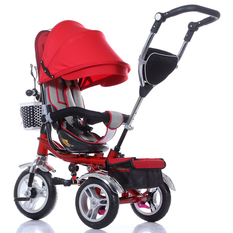 Steel/Aluminum Alloy Material and Man Push Power Rotating Baby Tricycle with Air Tire